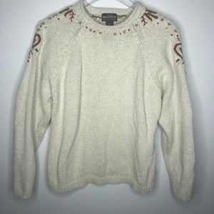 Woolrich Knit Sweater with Embroidered Detail XL
